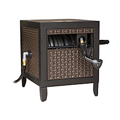 Metal Cabinet Hosereal With Wicker Finish