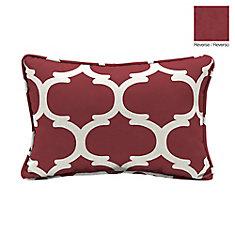 13 X 20 X 5 inch Frida Trellis Lumbar Outdoor Throw Pillow in Red