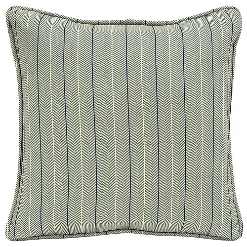 Hampton Bay CushionGuard Surplus Elle Stripe Square Outdoor Throw Pillow