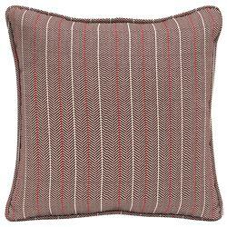 Hampton Bay CushionGuard Aubergine Elle Stripe Square Outdoor Throw Pillow