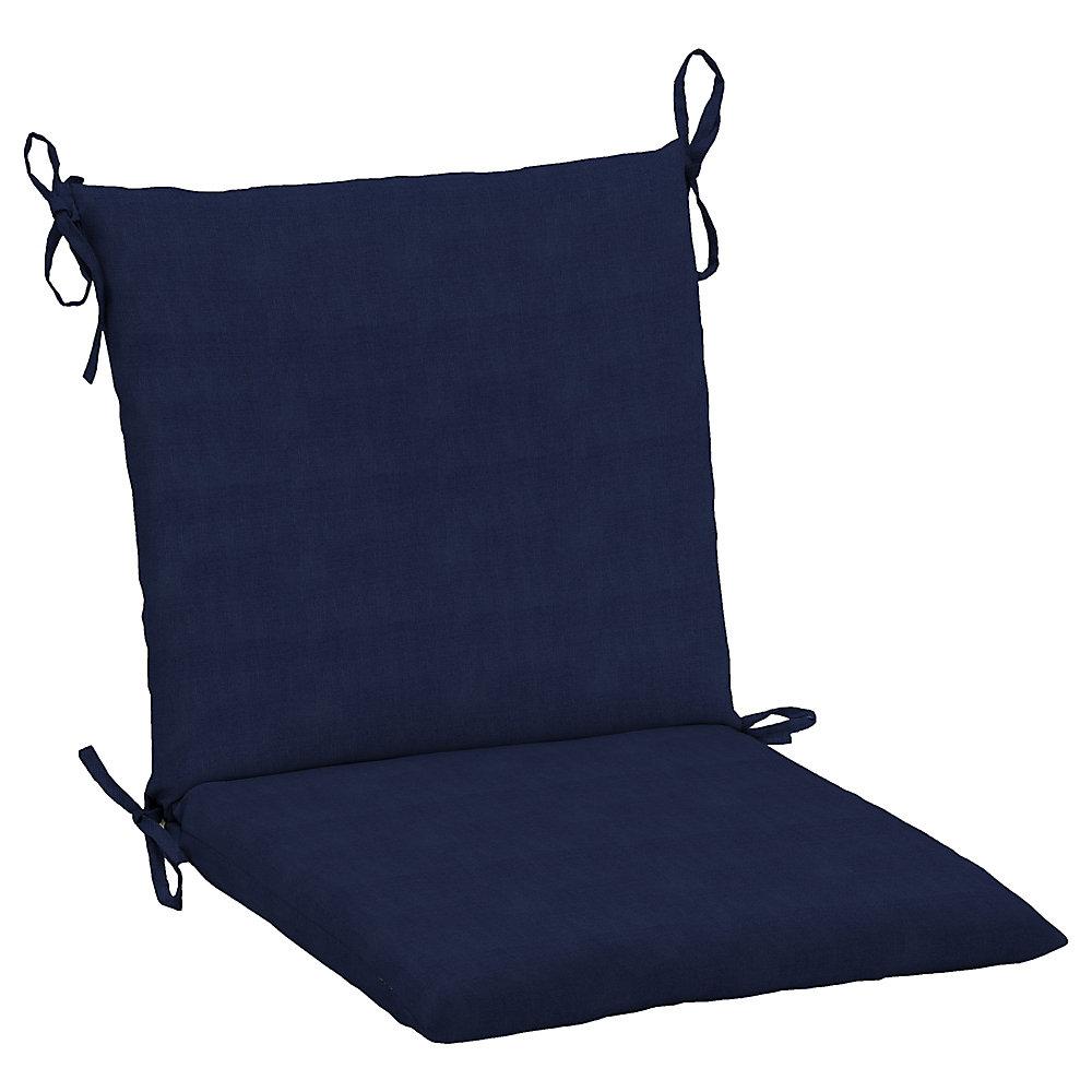 Surprising Hampton Bay Cushionguard Midnight Patio Dining Chair Cushion Best Image Libraries Sapebelowcountryjoecom