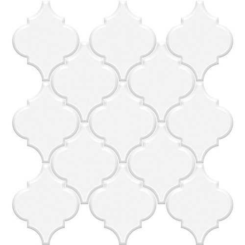 Metro Loft White Porcelain Arabesque