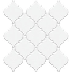 Metro Loft White Porcelain Arabesque