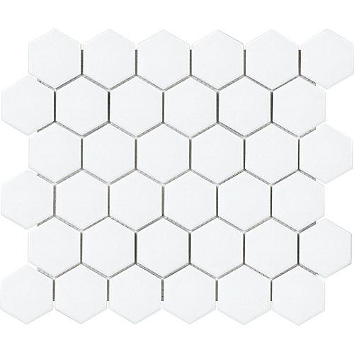 Metro Hexagon 2-inch Matte White Porcelain Mosaic Tile (0.95 sq. ft. / piece)