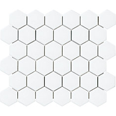 Mosaïques en porcelaine hexagonale mate hexagonale de 2 po