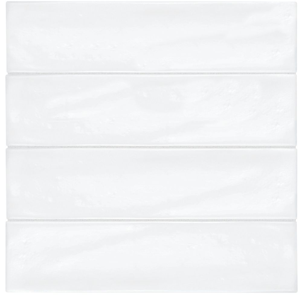 Enigma 3-inch x 12-inch Artisan White Gloss Wall Tile