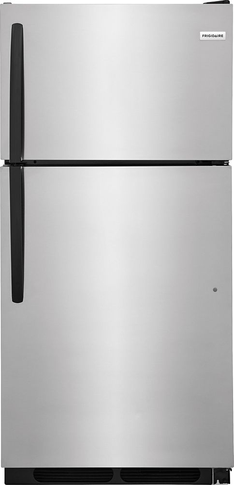 15 Cu. ft Top Mount Refrigerator in Stainless Steel