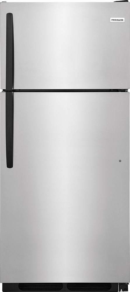 16 Cu. ft Top Mount Refrigerator in Stainless Steel