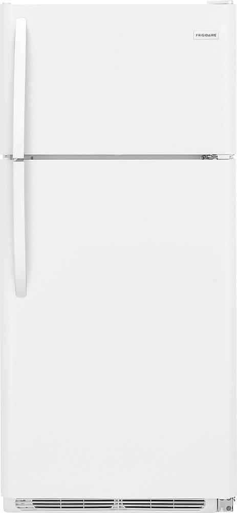 18 cu  ft  Top Freezer Refrigerator in White