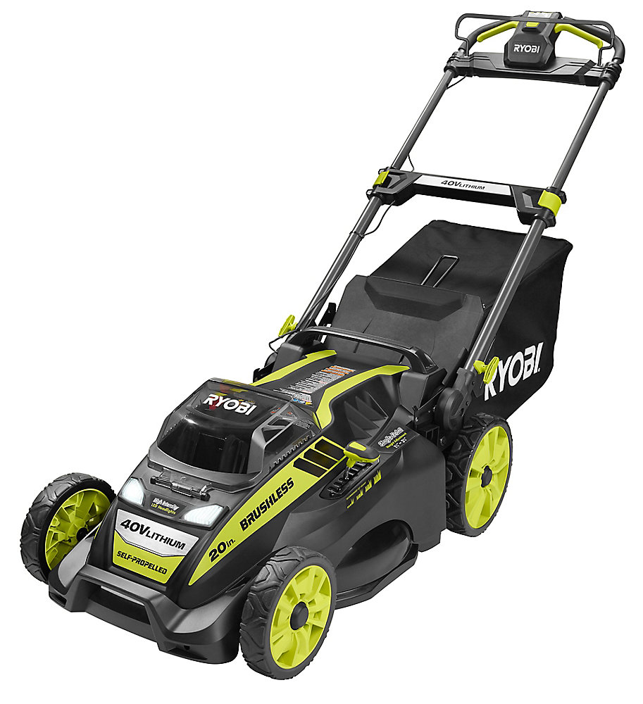 20-inch 40V Lithium-Ion Brushless Cordless Self-Propelled Walk Behind Lawn Mower with 5.0Ah Battery