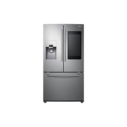36-inch 24 cu.ft. Capacity 3-Door French Door Refrigerator with Family Hub in Stainless Steel