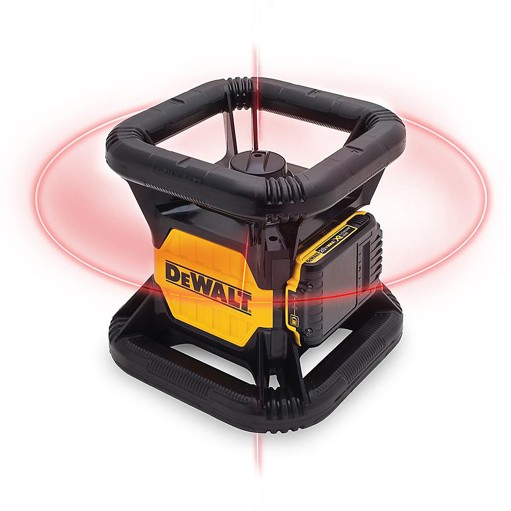20V MAX Li-Ion 150 ft  Red Self-Leveling Rotary Laser Level w/ Detector,  Battery 2Ah, Charger, & TSTAK Case