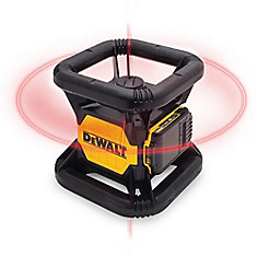 20V MAX Li-Ion 150 ft. Red Self-Leveling Rotary Laser Level w/ Detector, Battery 2Ah, Charger, & TSTAK Case