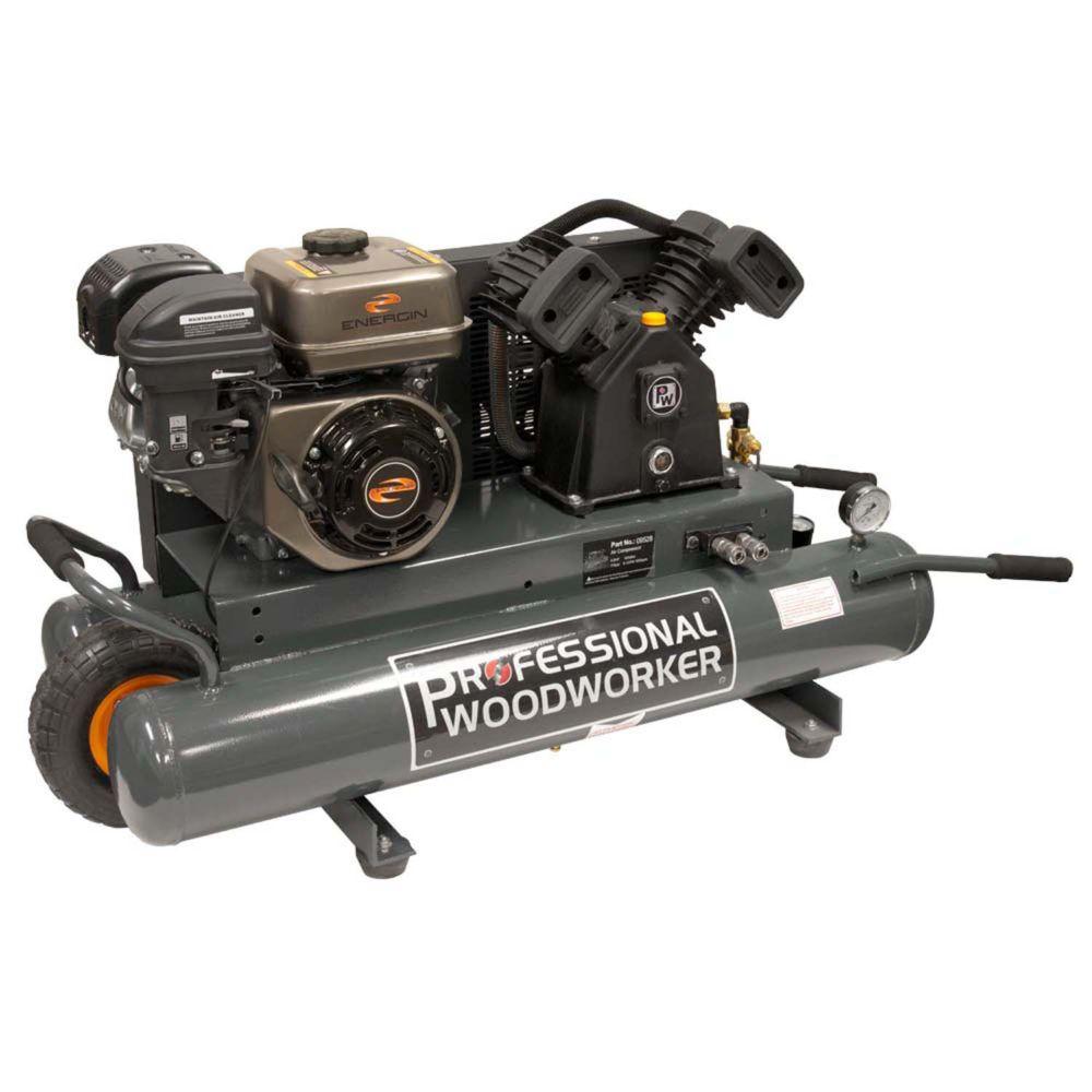 Professional Woodworker 6.5 HP 9 Gallon Gas wheelbarrow Air Compressor