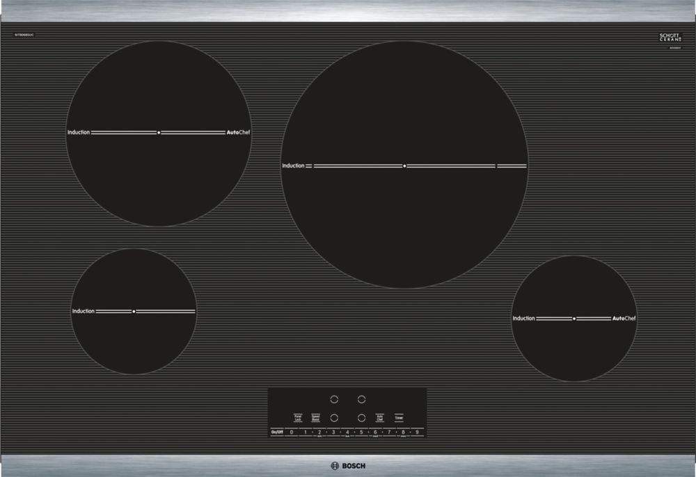 800 Series - 30 inch Induction Cooktop - Black w/ Stainless Steel Frame