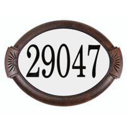 PRO-DF Classic Aluminum Address Plaque, Antique Copper