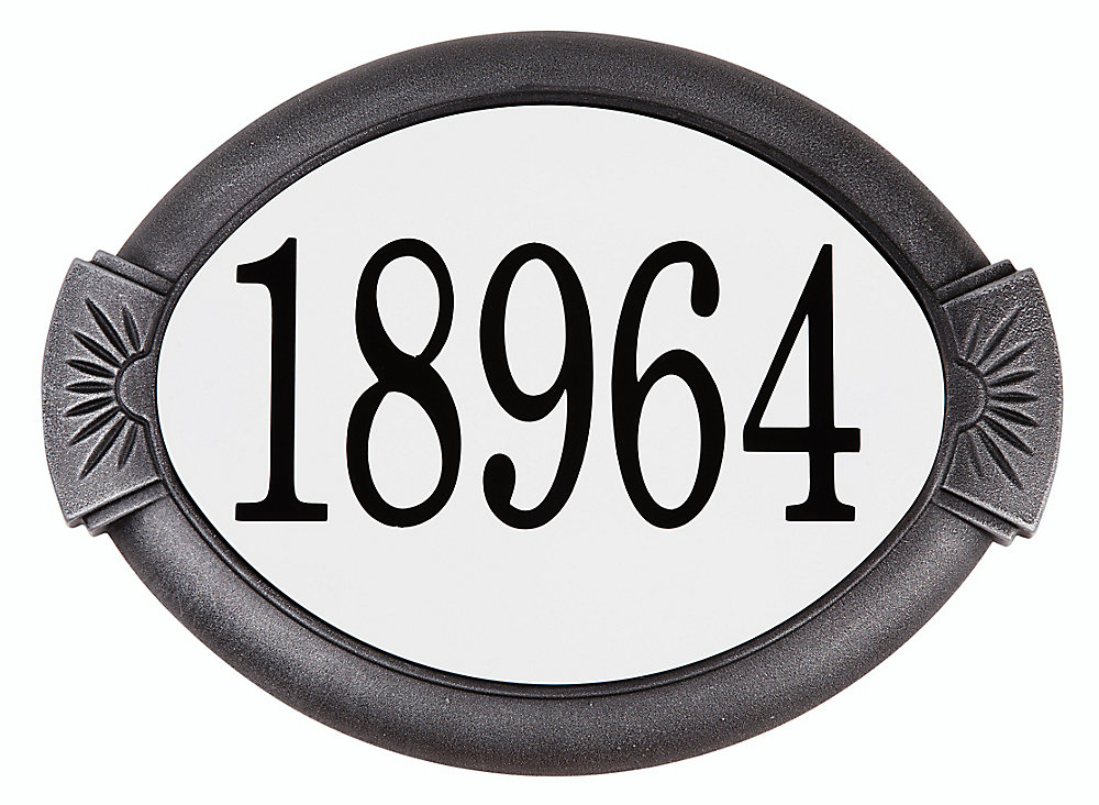 Classic Aluminum Address Plaque, Swedish Silver
