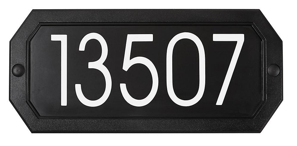 Economical Address Plaque, Black