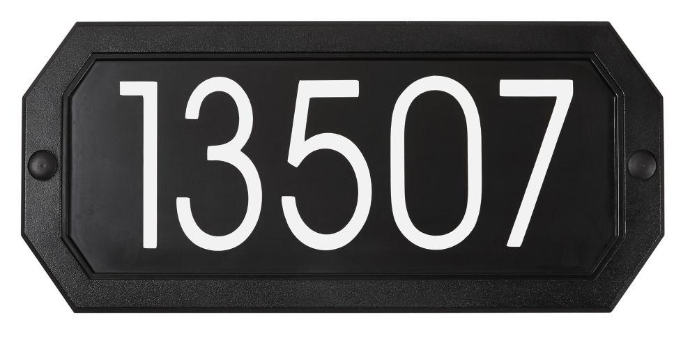 PRO-DF Economical Address Plaque, Black