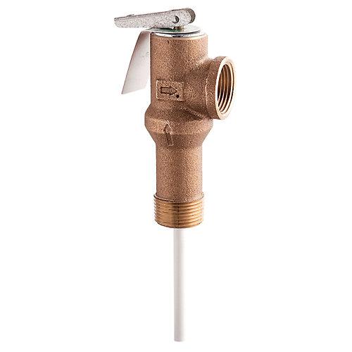 Soupape de décharge et de 3 température L100XL-, de 3/4 po  150/213