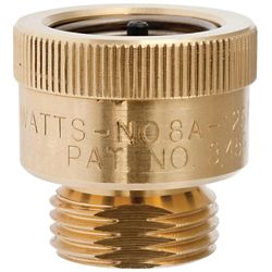 Watts 3/4 Inch Series 8A Hose Connection Atmospheric Vacuum Breaker w/ non-removable feature