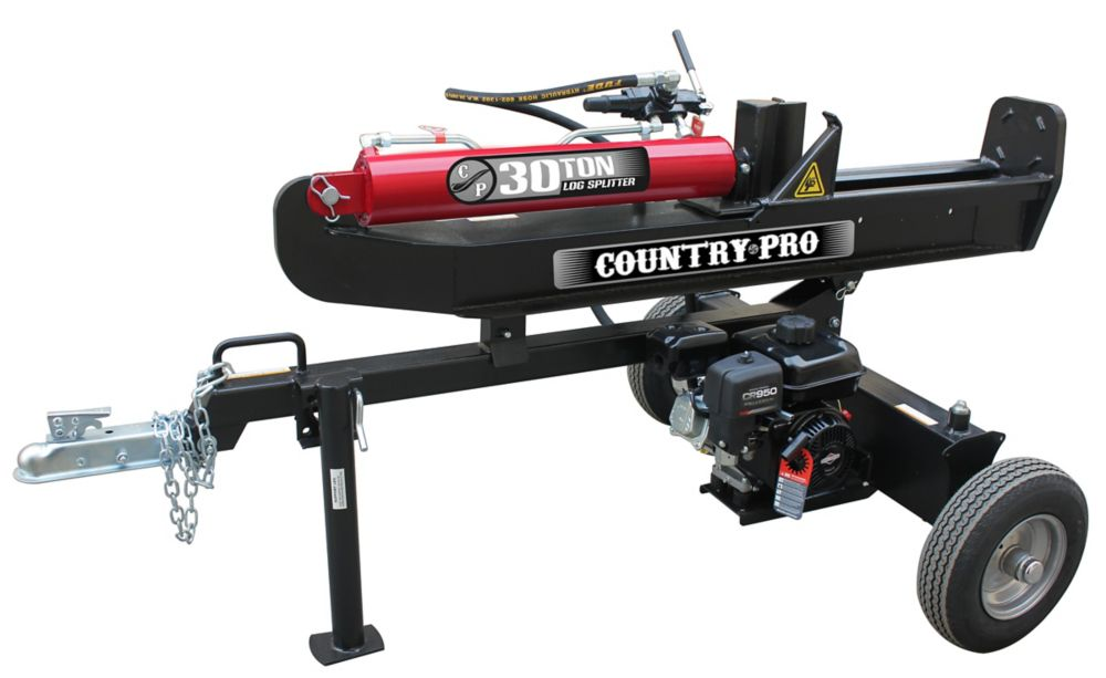 COUNTRY PRO 30 Ton Log Splitter with 250cc Briggs and Stratton Engine