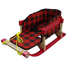 Alpine Slasher Sleigh with Belted Plaid Pad