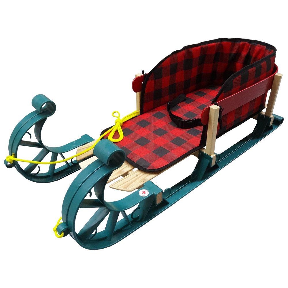 Streamridge Alpine Kinder Sleigh with belted plaid pad