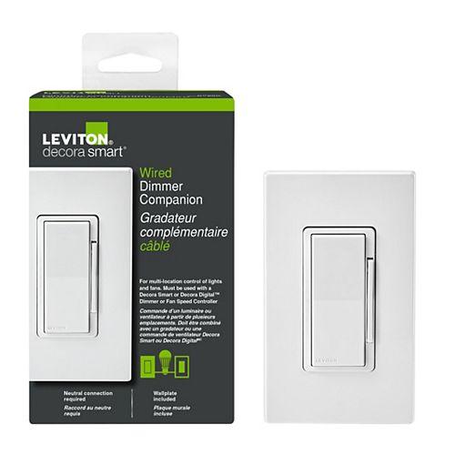 Leviton 120VAC 60 Hz Decora Digital/Decora Smart Matching Dimmer Remote, White
