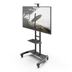 Kanto MTM82PL Mobile TV Mount with Adjustable Shelf for 50-inch to 82-inch TVs