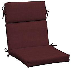 Hampton Bay CushionGuard Aubergine High Back Outdoor Dining Chair Cushion
