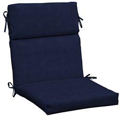 Hampton Bay CushionGuard Midnight High Back Patio Dining Chair Cushion