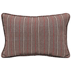 Hampton Bay CushionGuard Aubergine Elle Stripe Lumbar Outdoor Throw Pillow