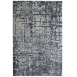 Lanart Rug Viscotti Black 5 ft. 3-inch x 7 ft. 6-inch Indoor Area Rug