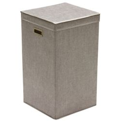 Greenway Collapsible Single Laundry Hamper, Grey Linen