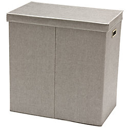 Greenway Collapsible Double Sorter Laundry Hamper, Grey Linen