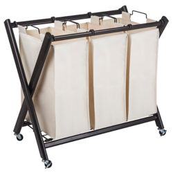 Greenway Deluxe Steel Triple Laundry Sorter