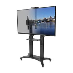 Kanto MTMA80PL Mobile TV Mount with Adjustable Shelf for 55-inch to 80-inch Flat Panel TVs
