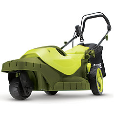 MJ404E-360 16-inch 12 amp Electric Lawn Mower with 3 Wheels and 360-Degree Turning Radius