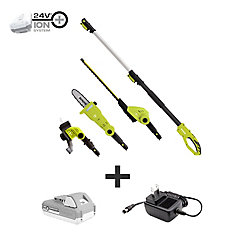 24V Cordless Lawn Care System (Hedge Trimmer, Pole Saw, Grass Trimmer)