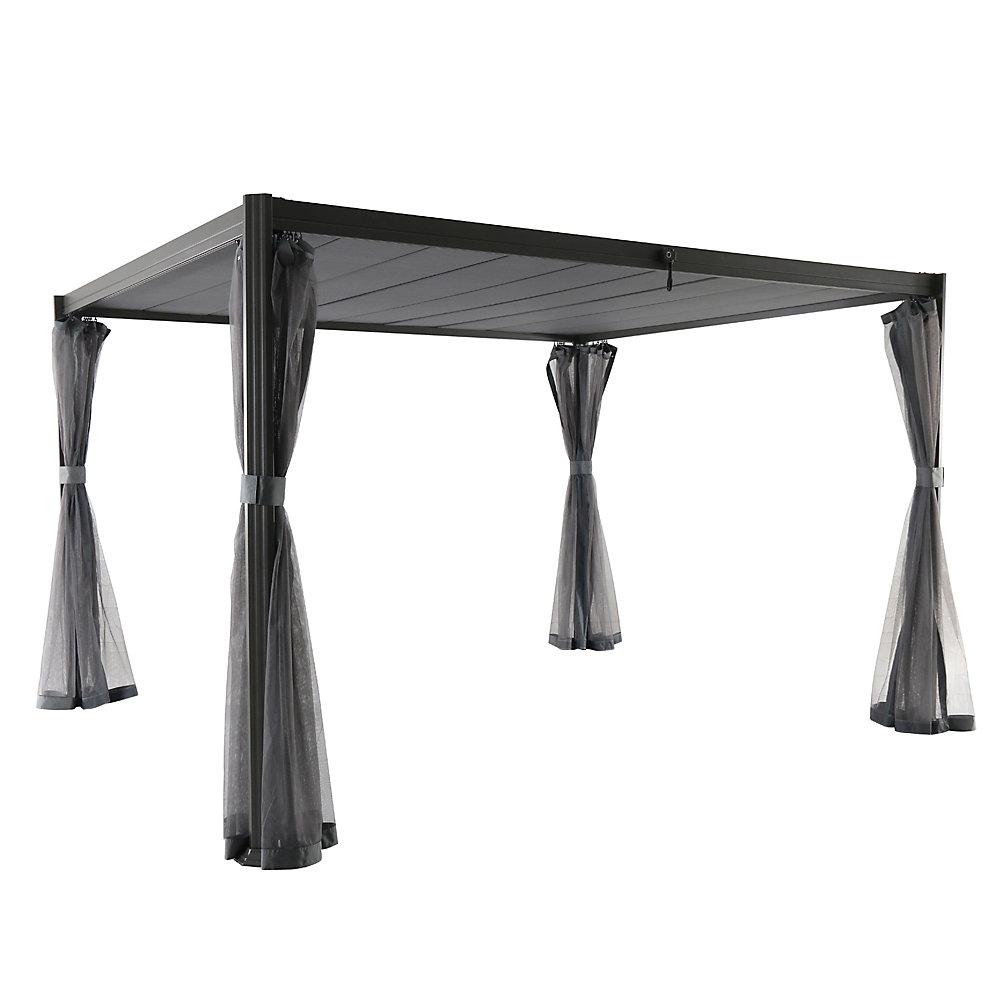 Coronado 8.3 ft X 9.7 ft Gazebo with Louvered Canopy in Gray