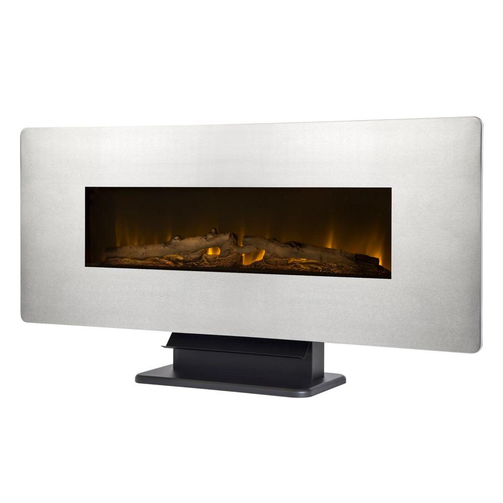 Muskoka Hudson 53 Inch Media Fireplace In Rustic Brown The Home  # Table Tele Lcd Et Led En Bois