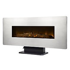42-inch Wall-Mount Electric Fireplace in Zinc