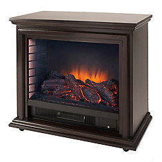 Sheridan Mobile Infrared Electric Fireplace in Espresso