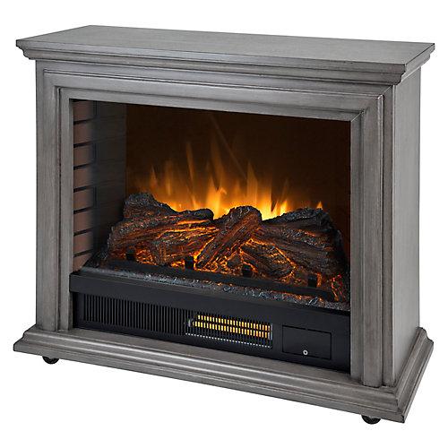 Sheridan Mobile Infrared Fireplace - Dark Weathered Grey