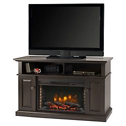 Muskoka Delaney 48 Inch Media Fireplace - Rustic Brown