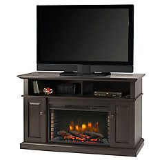 Delaney 48 Inch Media Fireplace - Rustic Brown