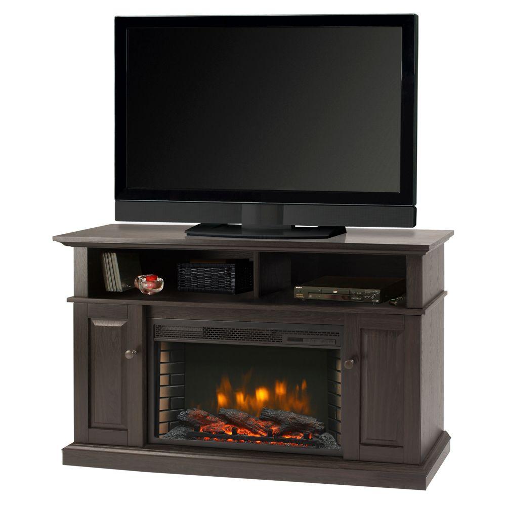 Muskoka Delaney 48 Inch Media Fireplace - Rustic Brown