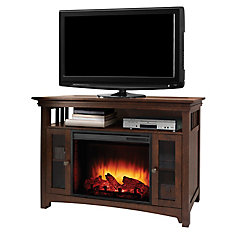 Wyatt 48 Inch Infrared Media Fireplace - Burnished Oak