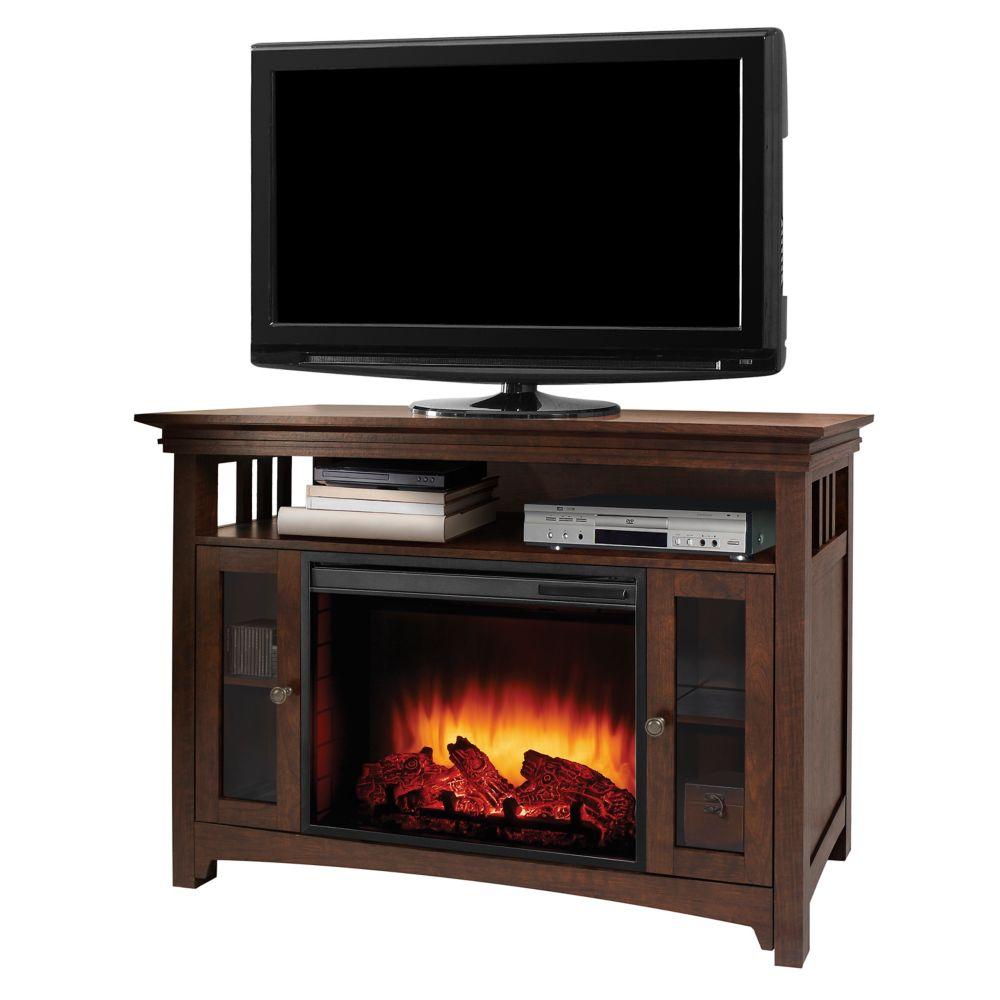 Muskoka Wyatt 48 Inch Infrared Media Fireplace - Burnished Oak